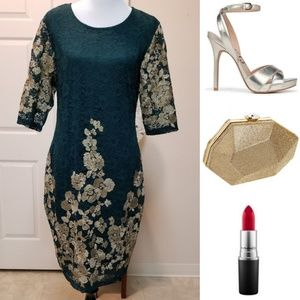 🆕️⬇️Olivia Matthews Floral Embroidered Lace Dress